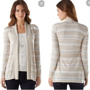 White House black market metallic stripe cardigan